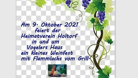 Kleines Weinfest©Heimatverein Holtorf