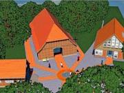 Der Neubau soll rechts neben Vogelers Haus (Mitte) entstehen.