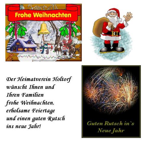 Weihnachtgsgruß©Heimatverein Holtorf