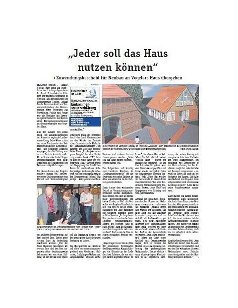 Zuwendungsbescheid©Blickpunkt Nienburg